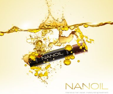 Nanoil for low porosity hair
